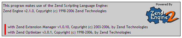 Zend Working Screen Cap